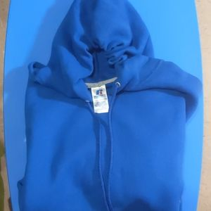 Royal blue Russell Hood sweater